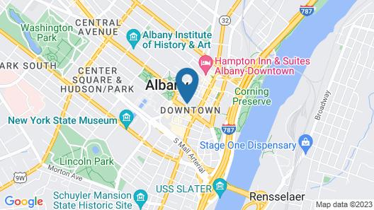 Hilton Albany Map