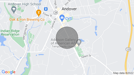 In the Heart of Phillips Academy and Downtown Andover Map