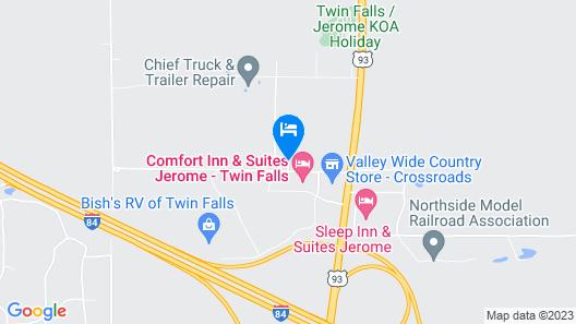 Comfort Inn & Suites Jerome - Twin Falls Map