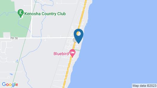 Lake Michigan Waterfront Kenosha Retreat For Eight People!! Map