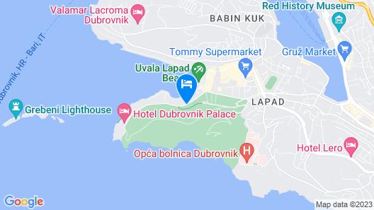 Hotel Uvala Map