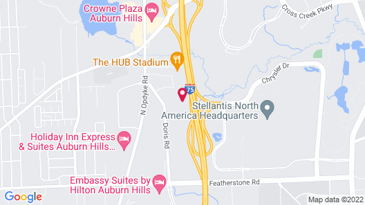 Extended Stay America Suites Detroit Auburn Hills I75 Map
