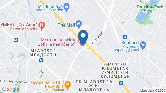Metropolitan Hotel Sofia Map