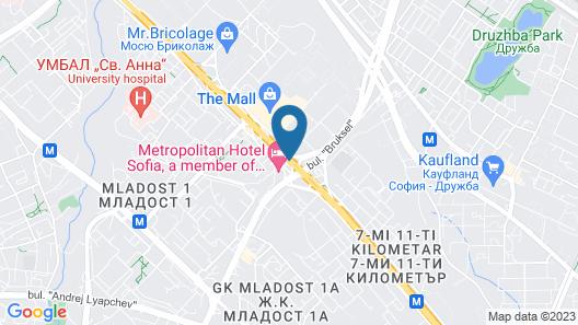 Novotel Sofia Map