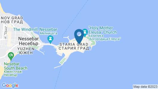 Panorama Blue Map