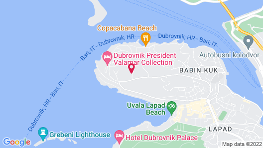 Valamar Lacroma Dubrovnik Hotel Map