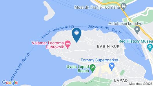 Valamar Club Dubrovnik Map