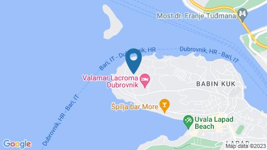 Valamar Argosy Hotel Map