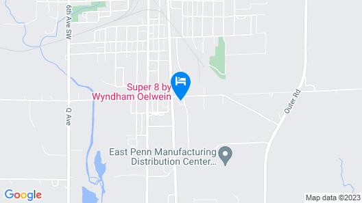 Super 8 by Wyndham Oelwein Map