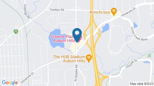Crowne Plaza Auburn Hills, an IHG Hotel Map