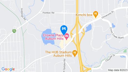 Comfort Suites Auburn Hills Map