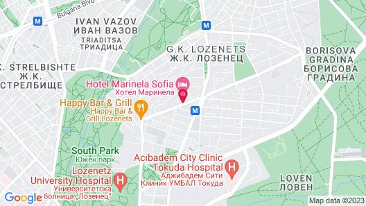 Hotel Marinela Sofia Map