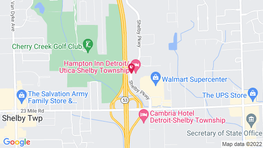 Hampton Inn Detroit/Utica - Shelby Township Map