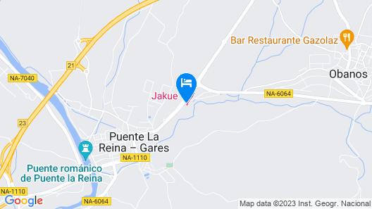 Hotel Jakue Map