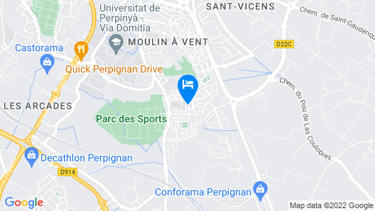Apartment With 2 Bedrooms in Perpignan, With Wonderful City View - 14 km From the Beach Map