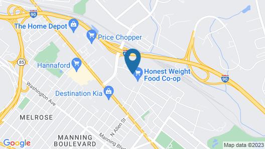 Motel 6 Albany, NY Map