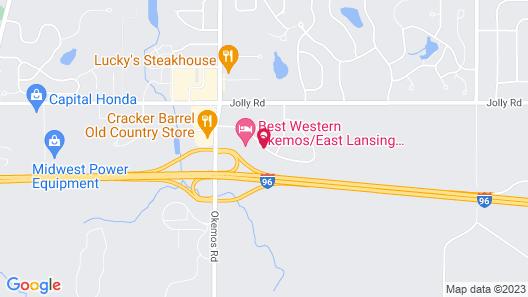 Comfort Inn Okemos - East Lansing Map