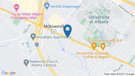 Hampton Inn Albany-Western Ave/University Area Map