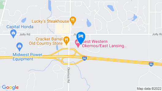 Best Western Okemos/East Lansing Hotel & Suites Map