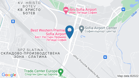 Hotel Best Western Premier Sofia Airport Map
