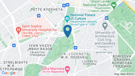 Hilton Sofia Map