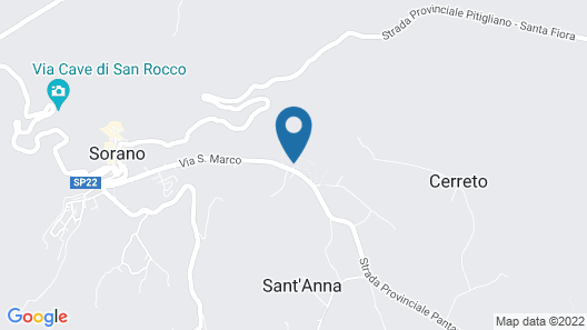Luxury Apartment With AC in the Green Maremma Map
