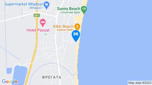 Hotel Golden Ina-Rumba Beach-All Inclusive Map