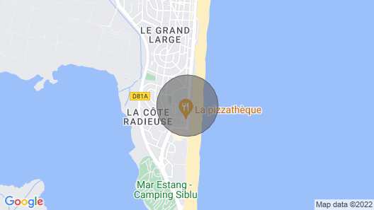 pretty studio with terrace in front of sea Canet beach Map