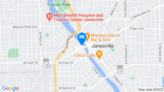 Cobblestone Hotel and Suites Janesville Map