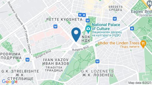 Grand Hotel Millennium Sofia Map