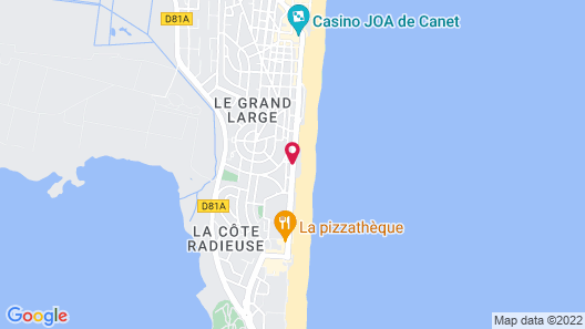 Best Western Hotel Canet-Plage Map