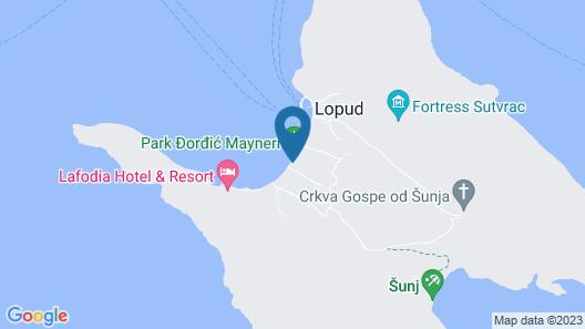 La Villa Lopud 1483 Map