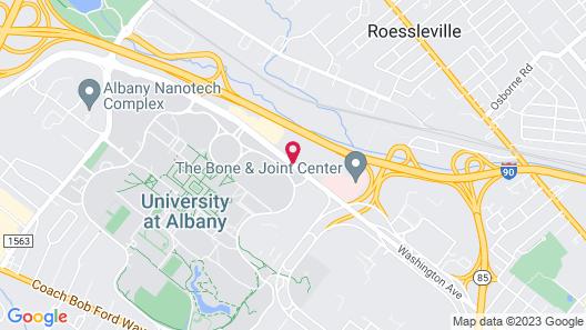 Hilton Garden Inn Albany/SUNY Area Map