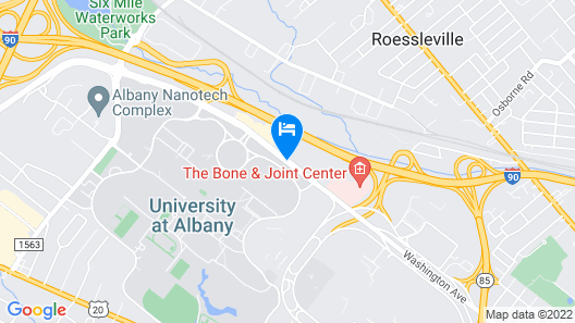 Extended Stay America - Albany - SUNY Map