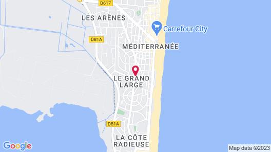 Logis Hotel et Restaurant Le Galion Canet Plage Map
