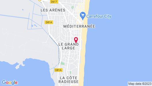 Hôtel les Sables Map