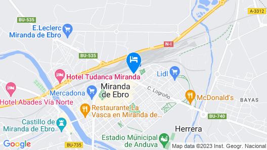 Hotel Sercotel Ciudad de Miranda Map
