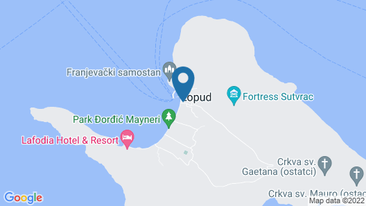 Spacious Villa in Lopud With Private Terrace Map