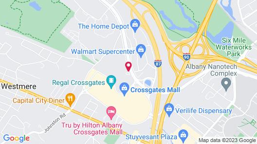 Residence Inn Albany Washington Avenue Map