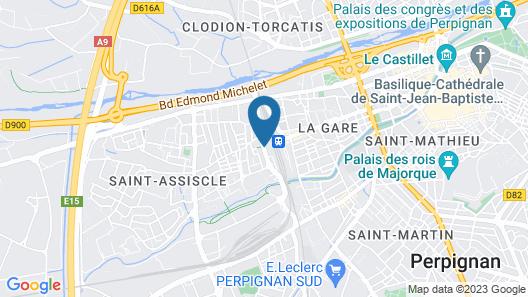 Appart'City Perpignan Centre Gare Map