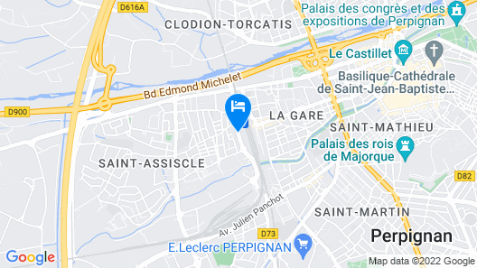 Appart'City Perpignan Centre Gare Map