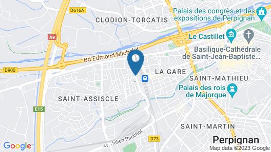Kyriad Prestige Perpignan Centre Del Mon Map