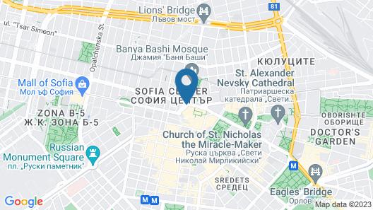 Sofia Hotel Balkan, a Luxury Collection Hotel, Sofia Map