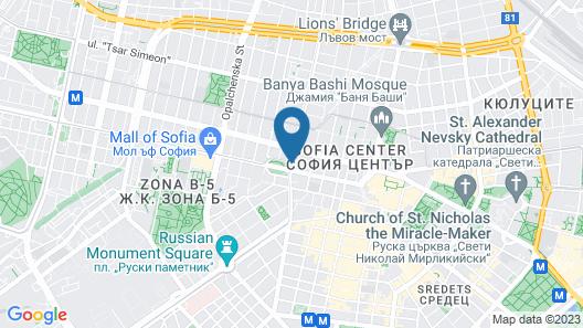 Central Hotel Sofia Map