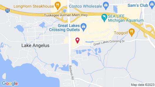 TownePlace Suites Detroit Auburn Hills Map