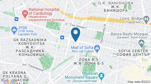 easyHotel Sofia Map