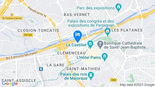 Novotel Suites Perpignan Mediterranée Map