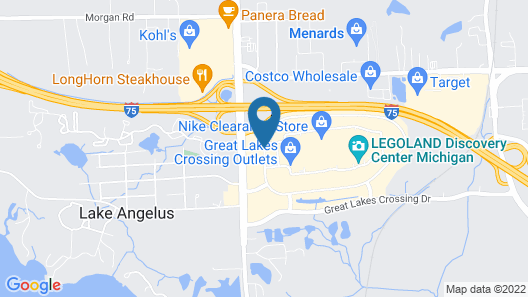 Hampton Inn Detroit/Auburn Hills-North Map