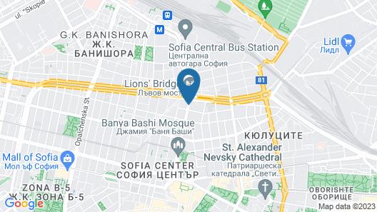 Generaator Sofia Hotel Map
