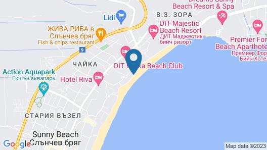 DIT Evrika Beach Club Hotel - All Inclusive Map